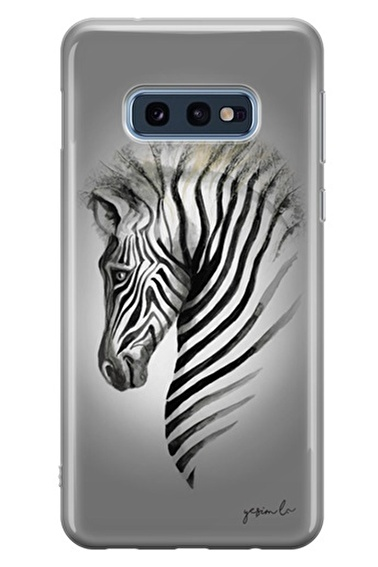 Lopard Samsung Galaxy S10E Kılıf Zebra Kapak Renkli